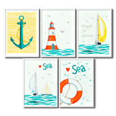 Poster for the children's room - a sea adventure.