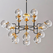 Bistro Globe Clear Glass Chandelier