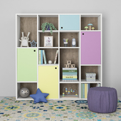 Furniture composition with ottoman for children 8