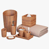 Handcrafted Wood Bath Accessories
