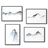 Posters with mountains - Grosser Mythen, Jungfrau, Mount Everest, Matterhorn.