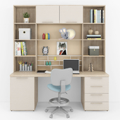Writing desk and decor for a child 11
