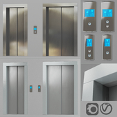 Doors with facings and post-call lift OTIS in 2 colors