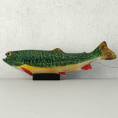 Sculpture Pottery Rainbow Trout