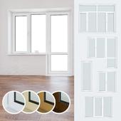 A set of plastic windows 07