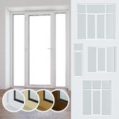 Set of plastic windows and doors 10
