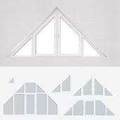 A set of plastic windows 12