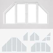 A set of plastic windows 13