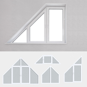 Set of plastic windows 14