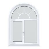 A set of arched plastic windows 18