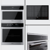 Miele - oven H6160B EDST / CLST, steamer DG6100 EDST / CLST and cooking surface KM6366