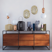 Chest of drawers and decorative set CB2
