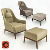 Armchair and Ottoman Giorgetti Normal