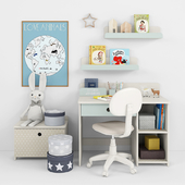 Writing-table and decor for a nursery 12