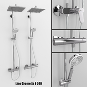 Shower systems Hansgrohe Crometta E 240