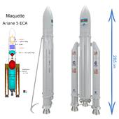 Ракета макет (Ariane 5 ECA)