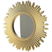 GOLDEN SUN-SHAPED MIRROR Zara