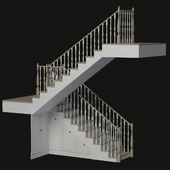 Classic ladder with built-in storage system