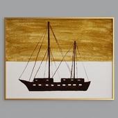 Ship, bike and car painting arts