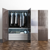 4-door wardrobe with mirrors Monaco Italy