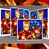 """Stained glass """"Iron Man"""""""