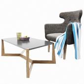 Semi-armchair + Table