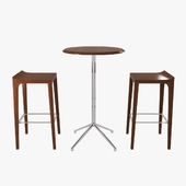 bernhardt vanish bar stool and story high table