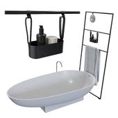 Bathroom Set / Agape Spoon & Burgbad