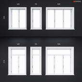 Wooden classical windows