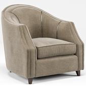 Edina Regency Camel Velvet Round Seamed Arm Chair