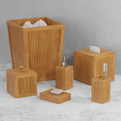 Natural Elements 6 pc Bamboo Bath Accent Set