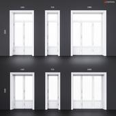 Wooden classical balcony doors