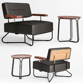 QT Chair & Coffee Table by Stellar Works