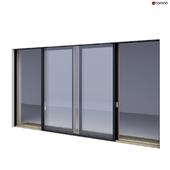 Wood-aluminum sliding stained-glass windows 1
