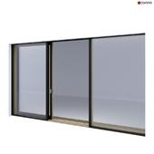 Wood-aluminum sliding stained-glass windows 2