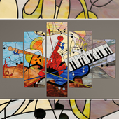 """Stained-glass window """"Musical abstraction"""""""