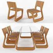 Steek Tabla and Chair By Artisan