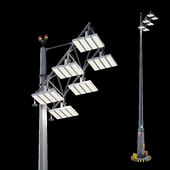 Lighting support with EWO floodlights