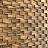 Wooden decorative wall