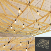 Wooden suspended ceiling 4