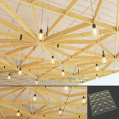 Wooden suspended ceiling 5