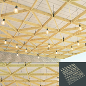 Wooden suspended ceiling 6