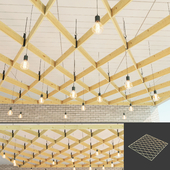 Wooden suspended ceiling 7