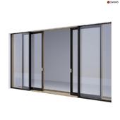 Wood-aluminum sliding stained-glass windows 3