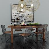 Crate & Barrel Dining Room