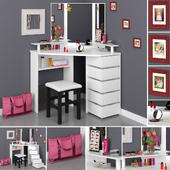 Parisot beauty bar corner dressing table