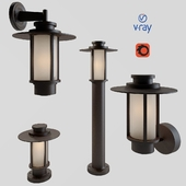 Outdoor lamps of the model GOESS from the company LUCIDE, Belgium. 4 variants of execution.