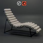 Sunbed Roll & Rest Bolster Chaise