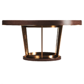 RH LINEAR ROUND DINING TABLE
