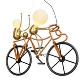 Modern Creative Cute Cartoon Knight Bike Pendant Lamp